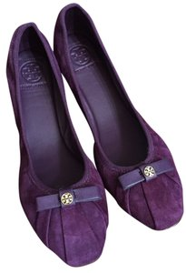 Tory Burch Suede New In Box Ballet Purple Flats