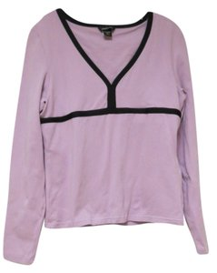 Moda International T Shirt light purple with black trim