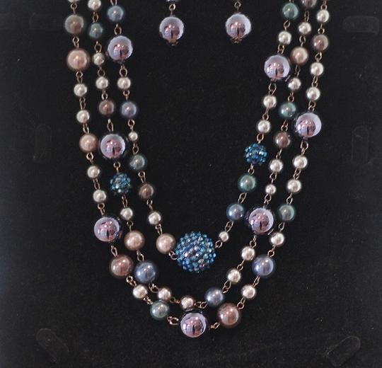 CJ Blue Violet Necklace & Earring Set Image 2