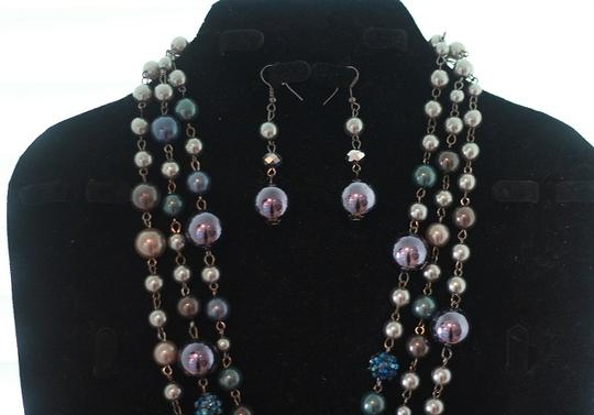 CJ Blue Violet Necklace & Earring Set Image 3