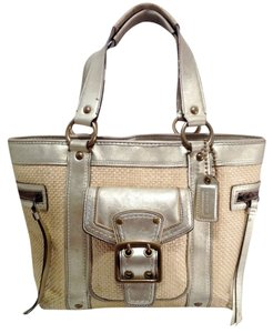 Coach Vintage Leather Tote in Metallic Gold