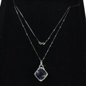 Diamond and amethyst Diamond and Amethystt 14K Necklace with Pendant