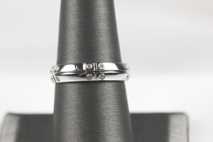 Tiffany & Co. Tiffany Co. Streamerica 18k White Gold Wide Mens/unisex Ring