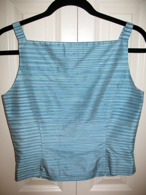 Ann Taylor Top Blue stripes