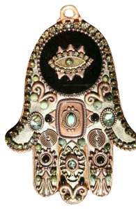 Michal Golan Michal Golan Gray Toned Wall Hamsa with Copper & Black Onyx