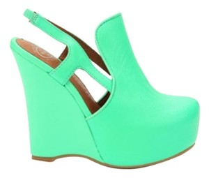 Jeffrey Campbell Neon Green Wedges