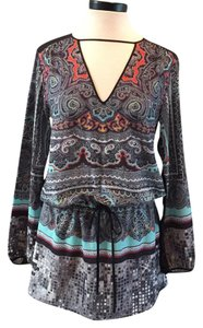 Clover Canyon short dress Black and multi on Tradesy