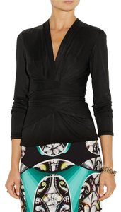ISSA London Dvf Diane Von Furstenberg Top Black
