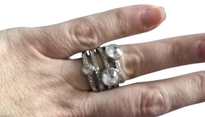 Unknown Costume Dtaggered Diamond Ring