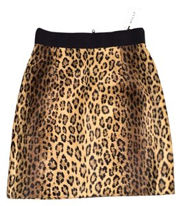 MILLY Skirt Leopard