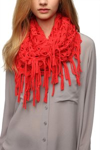 Urban Outfitters Staring at Stars Netted Fringe Eternity Scarf