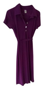 Japanese Weekend Nursing & Maternity Japanese Weekend Women's Maternity Nursing Shirt Dress, Short Sleeve. Purple, X-Small