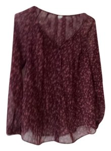Old Navy Old Navy Maternity Floral sheer top. Long sleeve. Burgundy. Size S
