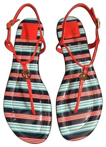 Tory Burch New In Box Designer Multicolor Sandals