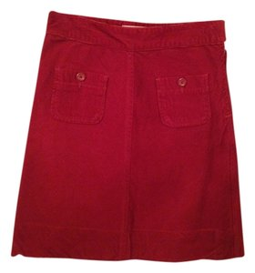 Gap Corduroy Skirt Red