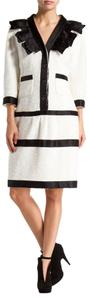 Chanel Boucle Boucle Tweed Tweed Button Dress