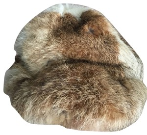 Lord & Taylor FINE LORD & TAYLOR REAL RABBIT FUR HAT IN DIFFERENT BROWN TONES.
