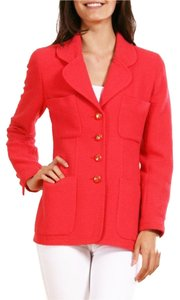 Chanel Boucle Coral Pink Jacket