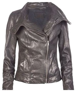 AllSaints Leather Moto Sexy Motorcycle Jacket
