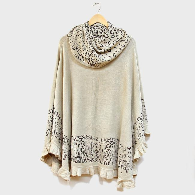 Preload https://img-static.tradesy.com/item/8206594/winter-beige-ruffle-trimmed-draped-neck-knit-fall-ponchocape-size-os-one-size-0-4-650-650.jpg
