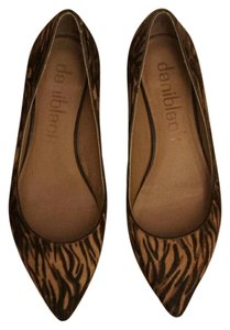Daniblack Leopard Animal Haircalf Tiger Flats