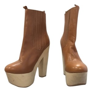 Opening Ceremony Brown Platform Tan Boots