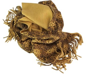 Scarf Leopard Print Acrylic Brown