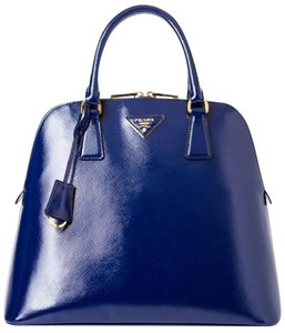 Prada Saffiano Leather Satchel in Blue