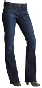 Buffalo David Bitton Cowboy Stretchy Mid Rise Flare Leg Jeans-Dark Rinse