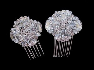 Other Wedding Bridal Crystal Side Small Hair Combs Birdcage Veil Combs Veil Hair Clips Bridal Shoe Clips