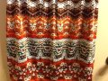 B Design Beaded Sleeveless Comfortable Casual Colorful V-neck Office Professional Work Spring Summer Geometric Top Brown/Orange Image 2