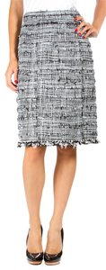 Chanel Tweed Pencil Never Worn Tags Attached Skirt Black/White/Grey