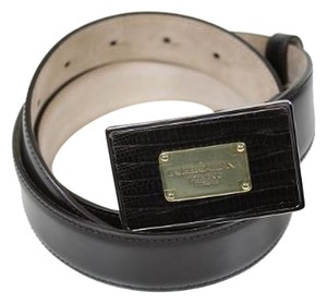 Dolce&Gabbana Dolce & Gabbana Belts Dark Brown (Look Black) Leather BC2671