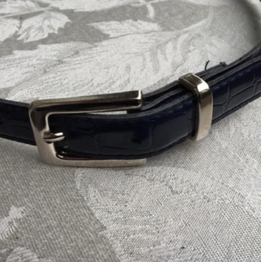 Other Navy Faux Reptile Belt Large 12 Image 1
