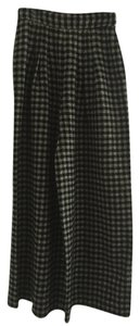 Sonia Rykiel Wide Leg Pants Checkered Black/White