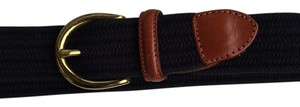 Talbots Navy web genuine leather Medium Belt
