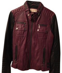 Michael Kors Black and red Leather Jacket