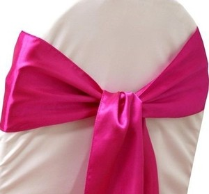 100 Fuchsia Satin Chair Sashes
