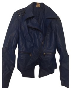 Look Like Leather Royal Blue Leather Jacket