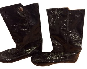 Marc by Marc Jacobs Patent Leather Flat Black Boots
