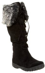 Bucco Tall Fur Black Boots