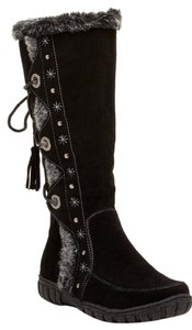 Bucco Faux Fur Fur Tall Black Boots