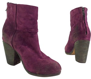 Rag & Bone Newbury Black Waxed Suede purple Boots