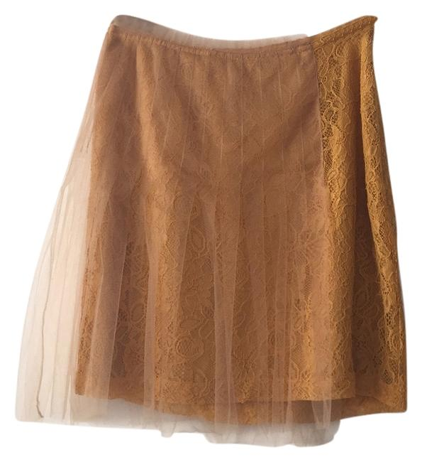 Item - Marigold Gold Yellow Lace and Mesh Skirt Size 4 (S, 27)