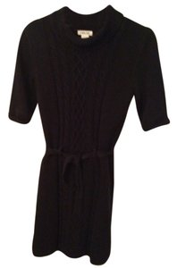 Cherokee short dress Black Cable Knit on Tradesy