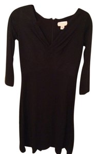 Ann Taylor LOFT short dress Black A-line on Tradesy