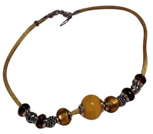 JEWELMINT Amber & Silver Necklace