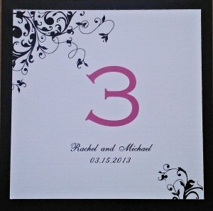Black Reception Table Numbers