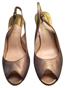Cole Haan Gold Wash Tumbled Sandals