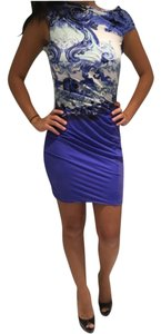 Roberto Cavalli short dress Blue on Tradesy